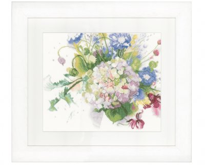 click here to view larger image of Hydrangea (counted cross stitch kit)