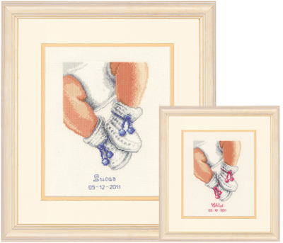 click here to view larger image of Baby Booties (counted cross stitch kit)