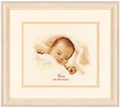 click here to view larger image of Baby Sleeping (counted cross stitch kit)