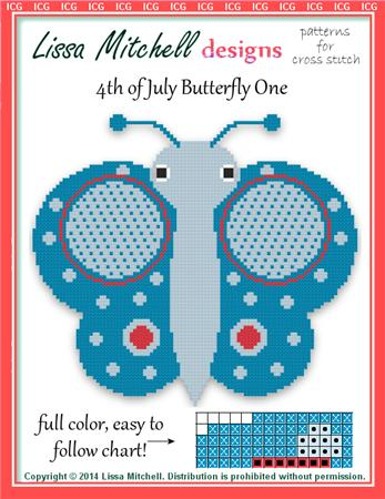 click here to view larger image of 4th of July Butterfly - One (chart)