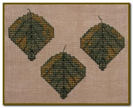 click here to view larger image of Autumn Leaves Quilt Block L (chart)