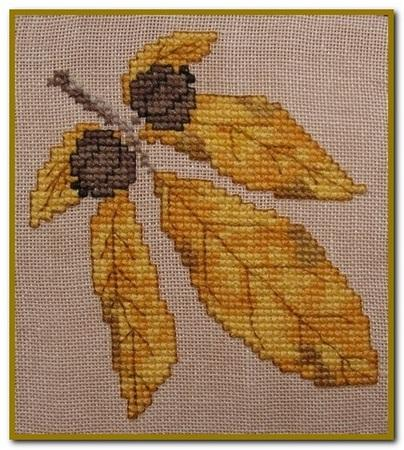 click here to view larger image of Autumn Leaves Quilt Block K (chart)