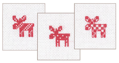 click here to view larger image of Christmas Giftcards (3 designs) (counted cross stitch kit)