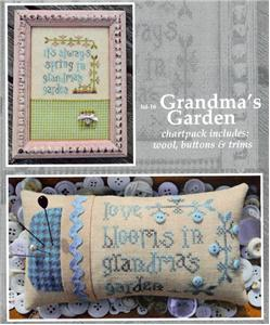 click here to view larger image of Grandma's Garden (chart with charms/buttons)