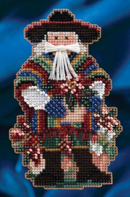click here to view larger image of Feliz Navidad Santa (counted cross stitch kit)