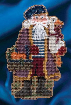 click here to view larger image of Joyeux Noel Santa (counted cross stitch kit)