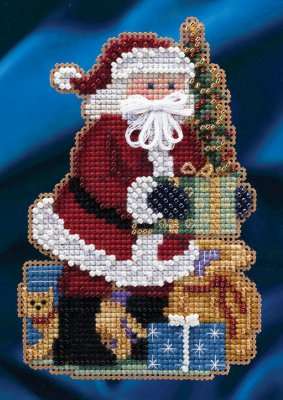 click here to view larger image of Merry Christmas Santa (counted cross stitch kit)