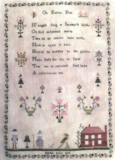 click here to view larger image of Christmastime Sampler - A.L.W. - 1858 (chart)