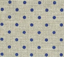 click here to view larger image of Belfast 32ct Petit Point - Natural with Blue Dots (Zweigart Belfast Linen)
