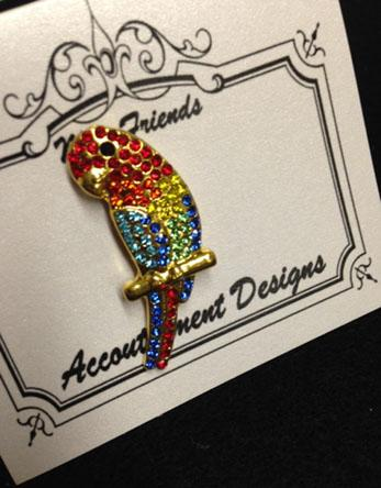 click here to view larger image of Glamorous - Parrot Magnet (accessory)