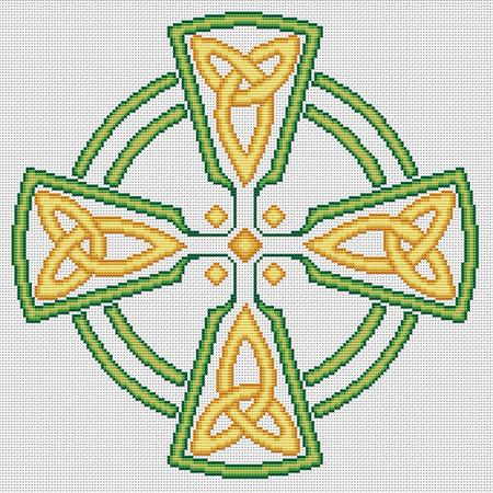 click here to view larger image of Celtic Cross - Green / Gold (chart)