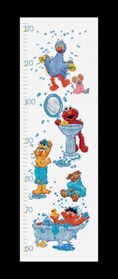 click here to view larger image of Sesame Street Groeimeter / Growth Chart - Aida (counted cross stitch kit)