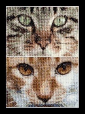 click here to view larger image of Cats - Tess and Simba - Aida (counted cross stitch kit)