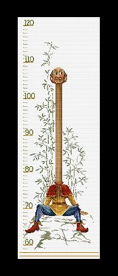 click here to view larger image of Efteling Groeimeter / Growth Chart - Aida (counted cross stitch kit)