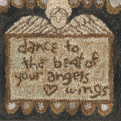 click here to view larger image of Angel Wings - Punchneedle (Punchneedle)
