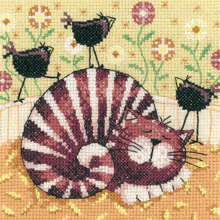 click here to view larger image of Birds of a Feather - Catz (27ct) (counted cross stitch kit)