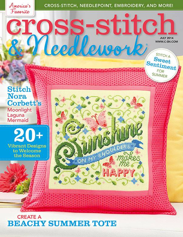 click here to view larger image of Cross Stitch & Needlework Magazine - July 2014 (magazines)