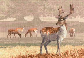 click here to view larger image of Deer Park - Aida (counted cross stitch kit)