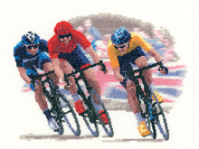 click here to view larger image of Cycle Race - Sporting Scenes - Aida (counted cross stitch kit)