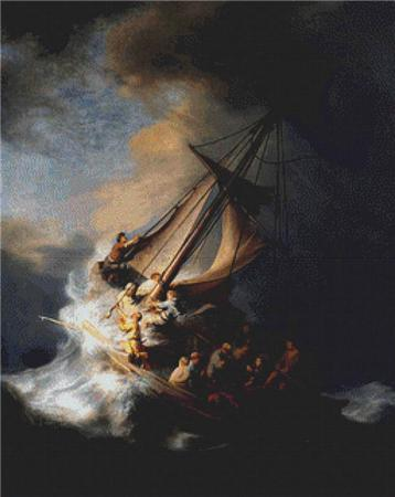 click here to view larger image of Storm on the Sea of Galilee, The  (Rembrandt) (chart)