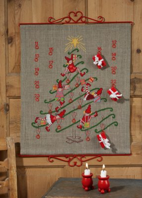 click here to view larger image of Christmas Tree Advent Calendar (counted cross stitch kit)
