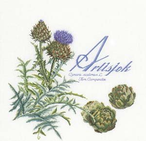 click here to view larger image of Artichoke (on white) (counted cross stitch kit)