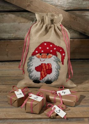 click here to view larger image of Elf with Heart Gift Bag (counted cross stitch kit)