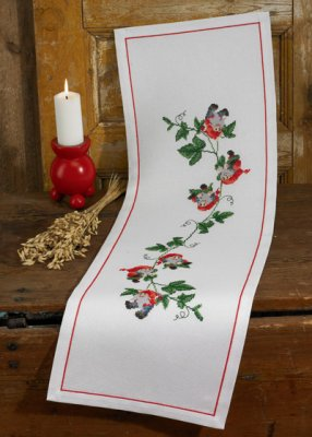 click here to view larger image of Climbing Elf Table Runner (counted cross stitch kit)
