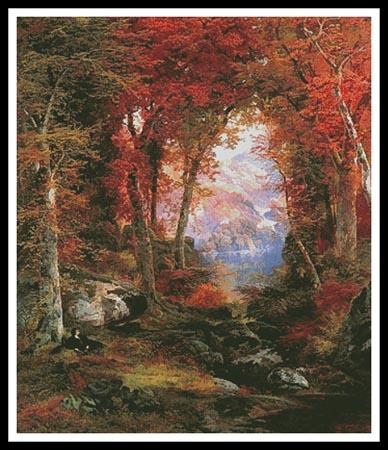 click here to view larger image of Autumnal Woods, The - Large (Thomas Moran) (chart)