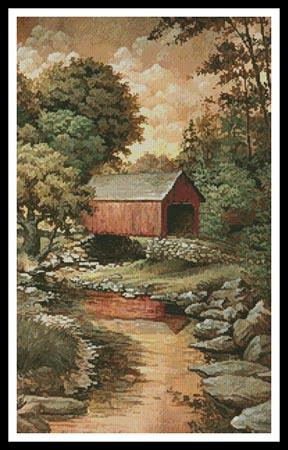 click here to view larger image of Covered  Bridge Painting (chart)