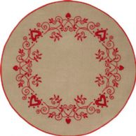 click here to view larger image of Christmas Tree Skirt (stamped cross stitch kit)