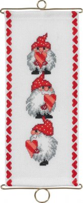 click here to view larger image of Christmas Bellpull (counted cross stitch kit)