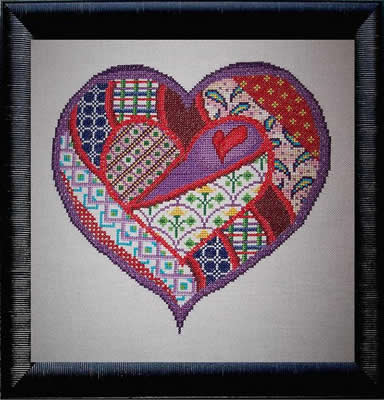 click here to view larger image of Mended Heart - Patchwork Series part 1 (of 4) (chart)