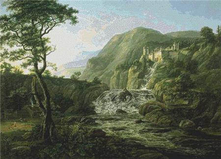 click here to view larger image of Mountain Landscape with a Castle (chart)