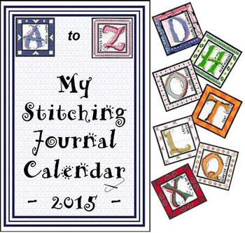 click here to view larger image of A-Z Stitching Journal Calendar (chart)