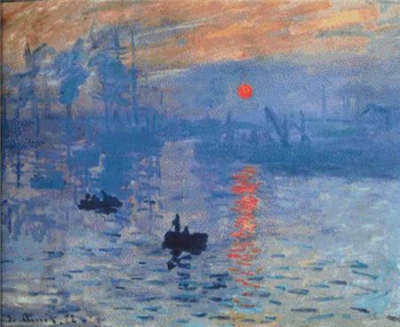 click here to view larger image of Impression, Sunrise (Claude Monet) (chart)