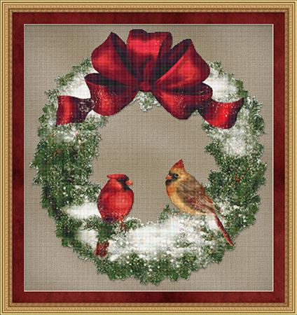 click here to view larger image of Bird Wreath (chart)