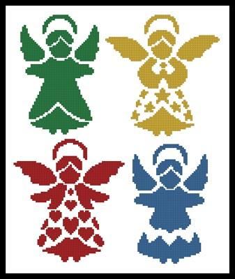 click here to view larger image of Angel Silhouettes  (Joni Prittie) (chart)