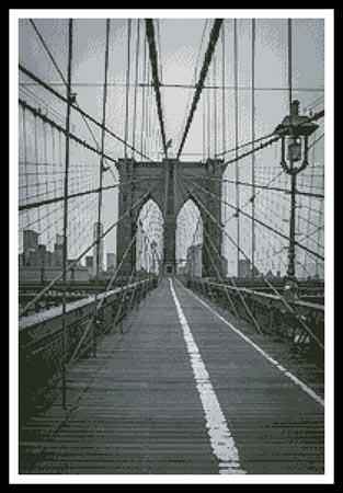 click here to view larger image of Brooklyn Bridge - Black and White (chart)