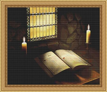 click here to view larger image of Book Bible in Candlelight, The (chart)
