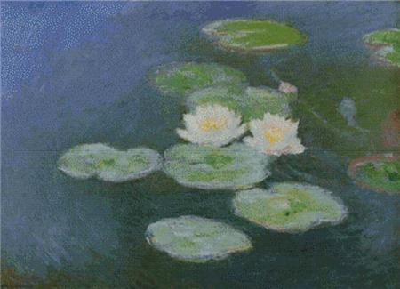 click here to view larger image of Water Lilies, Evening Effect (chart)