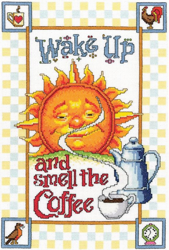 click here to view larger image of Smell The Coffee (counted cross stitch kit)
