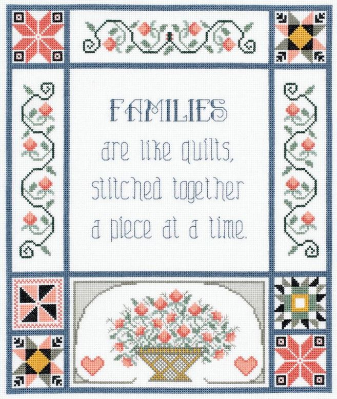 click here to view larger image of Families Are Like Quilts (counted cross stitch kit)