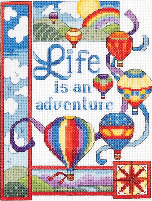 click here to view larger image of Life Is An Adventure (counted cross stitch kit)