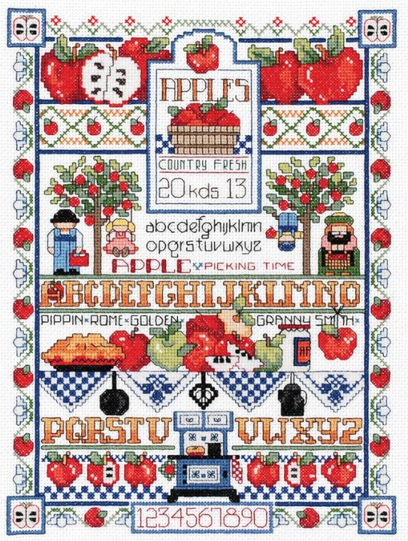 click here to view larger image of Apple Sampler (counted cross stitch kit)
