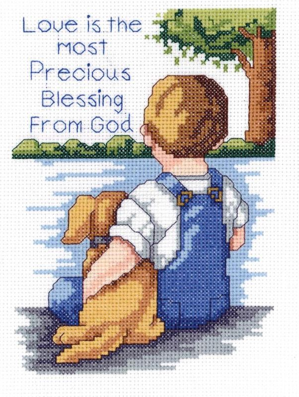 click here to view larger image of Precious Blessing (counted cross stitch kit)