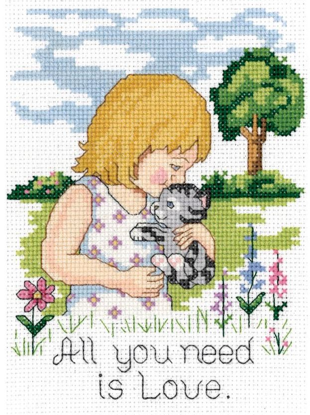 click here to view larger image of All You Need is Love (counted cross stitch kit)