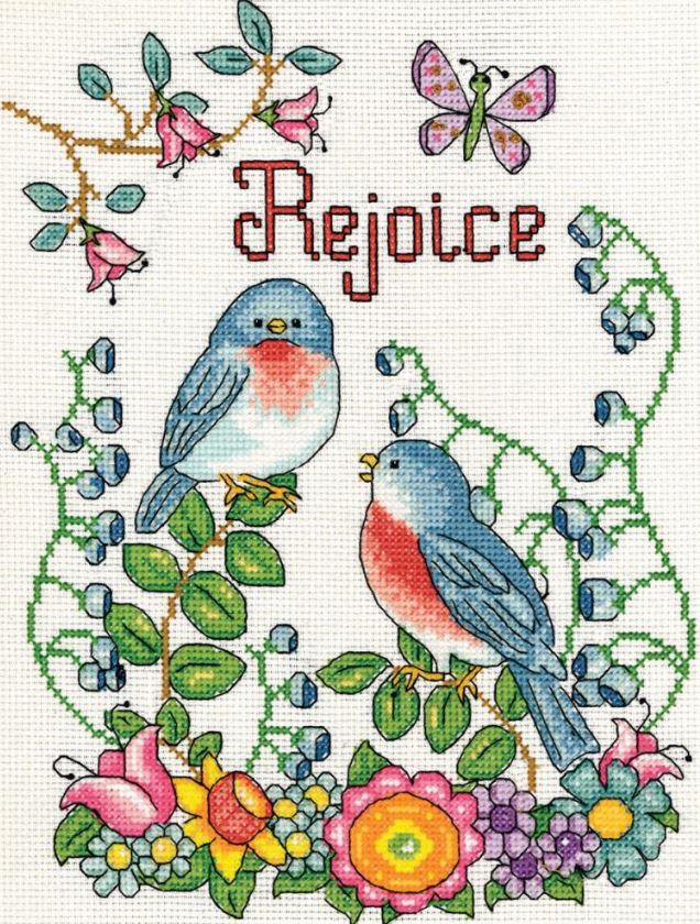 click here to view larger image of Rejoice (Birds) (counted cross stitch kit)