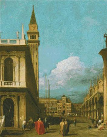 click here to view larger image of Venice The Piazzetta Towards the Torre Dell Olorogio  (Canaletto) (chart)