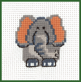 click here to view larger image of Elephant - My First Kit (counted cross stitch kit)